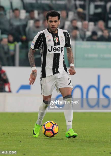 Dani Alves in action during Serie A match between Juventus v Palermo in Turin Italy on February 17 2017