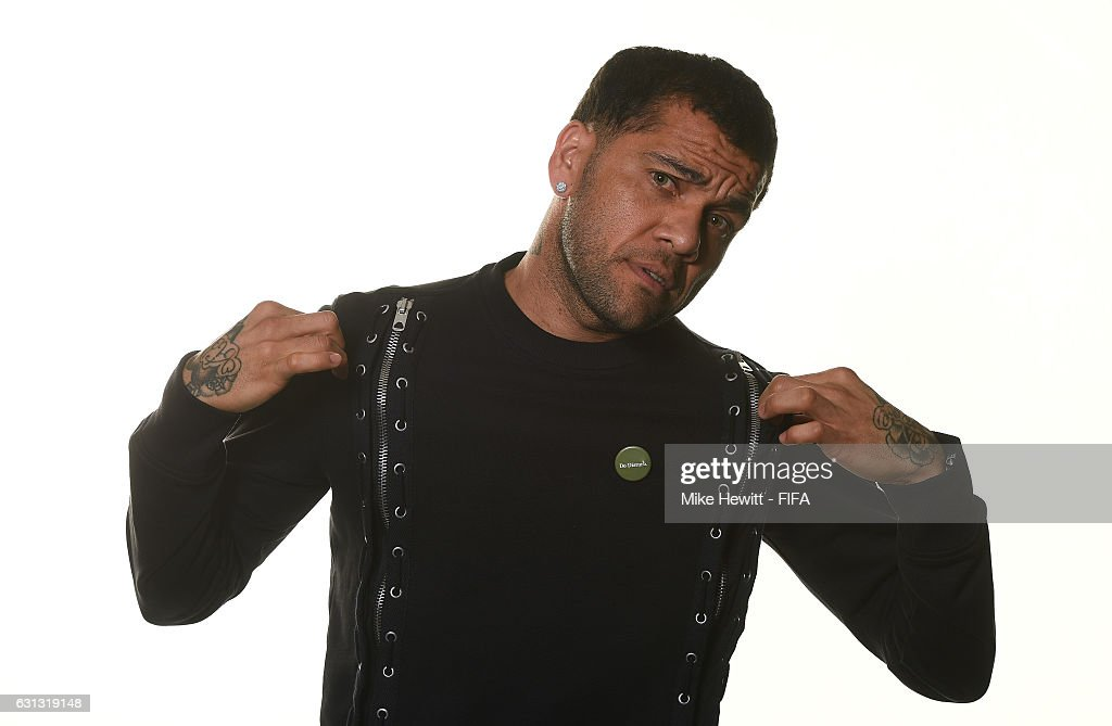 Dani Alves of Brazil and Juventus poses prior to The Best FIFA Football Awards at Kameha Zurich Hotel on January 9, 2017 in Zurich, Switzerland.