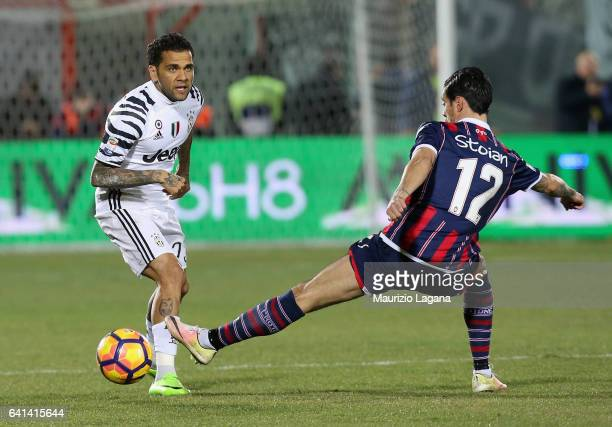 Dani Alves of Juventus during the Serie A match between FC Crotone and Juventus FC at Stadio Comunale Ezio Scida on February 8 2017 in Crotone Italy