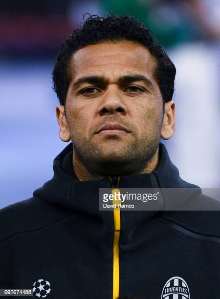 Dani Alves of Juventus looks on prior to the UEFA Champions League Final between Juventus and Real Madrid at National Stadium of Wales on June 3 2017...