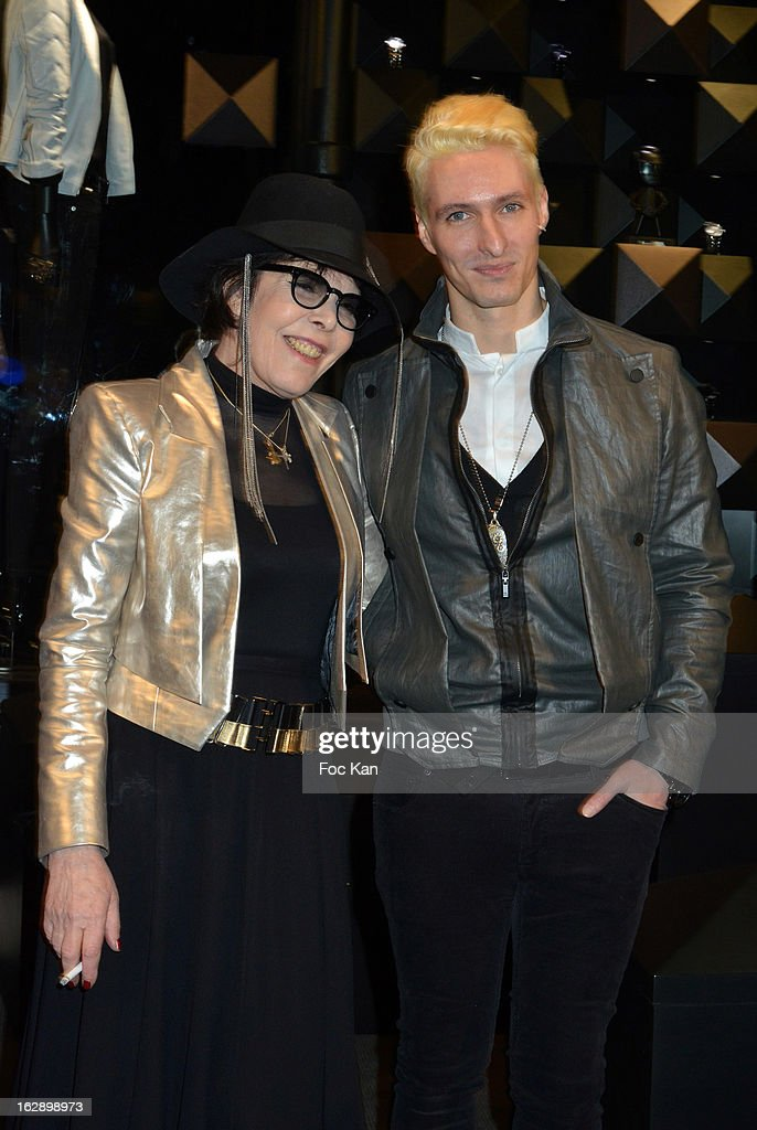 Dani (L) and Bruno Alexandre of band Neimo attend the opening of the Karl Lagerfeld concept store during Paris Fashion Week Fall/Winter 2013 at Karl Lagerfeld Concept Store Saint Germain on February 28, 2013 in Paris, France.