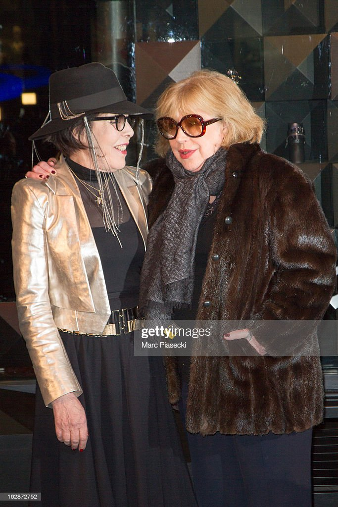 Dani and Marianne Faithful attend the Karl Lagerfeld's Concept Store Opening as part of Paris Fashion Week on February 28, 2013 in Paris, France.