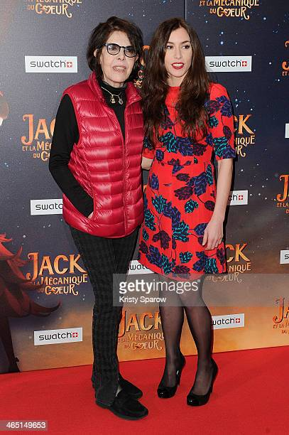 Dani and Olivia Ruiz attend the 'Jack Et La Mecanique Du Coeur' Paris Premiere at UGC Normandie on January 26 2014 in Paris France