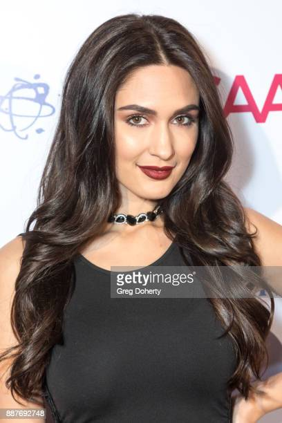 Dani B attends The Junior Hollywood Radio Television Society's 15th Annual Holiday Party at Le Jardin on December 6 2017 in Hollywood California