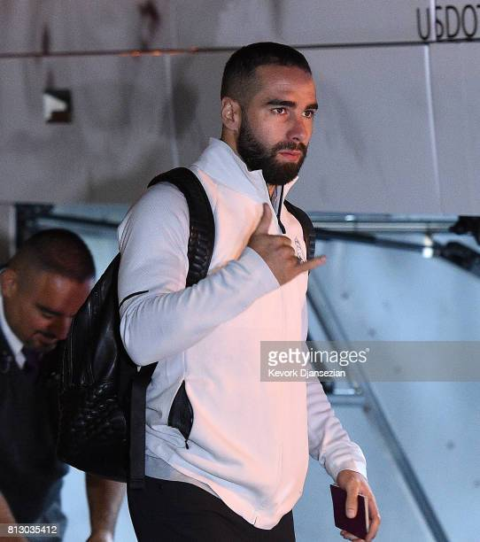 Dani Carvajal of Real Madrid arrives at Los Angeles International Airport for Tour 2017 July 11 in Los Angeles California