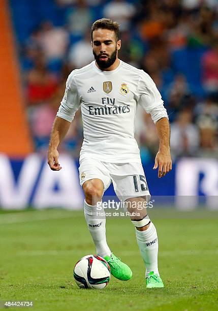 Dani Carvajal of Real Madrid in action during the Santiago Bernabeu Trophy match between Real Madrid and Galatasaray at Estadio Santiago Bernabeu on...