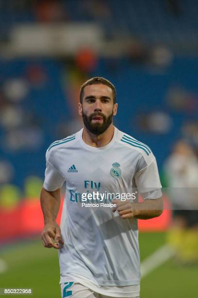Dani Carvajal of Real Madrid looks on before the match between Real Madrid and Betis as part of La Liga at Santiago Bernabeu Stadium on September 20...