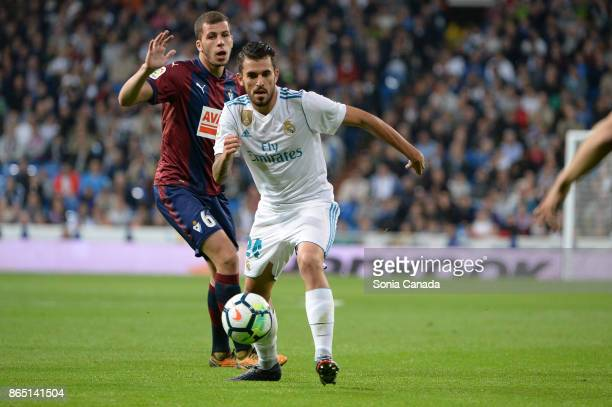 Dani Ceballos #24 of Real Madrid during the La Liga match between Real Madrid v Eibar at Santiago Bernabeu on October 22 2017 in Madrid Spain