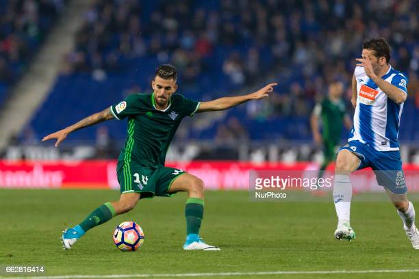 Dani Ceballos during the match between RCD Espanyol vs Betis for the round 29 of the Liga Santander played at RCD Espanyol Stadium on 31th March 2017...