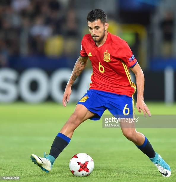 Dani Ceballos during the UEFA European Under21 match between Spain and Italy on June 27 2017 in Krakow Poland
