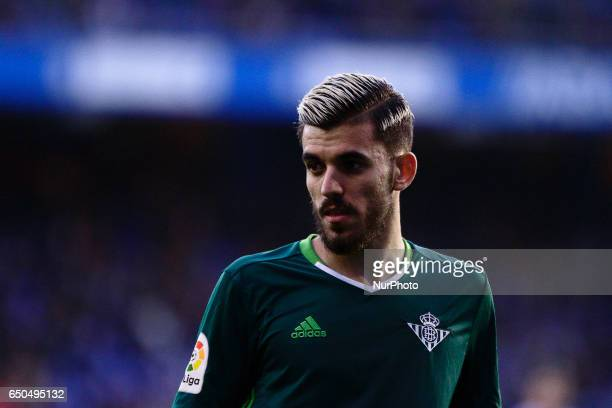 Dani Ceballos midfielder of Real Betis Balompie during the La Liga Santander match between Deportivo de La Coruña and Real Betis Balompie at Riazor...
