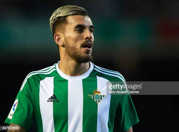 Dani Ceballos of Real Betis Balompie looks on during La Liga match between Real Betis Balompie and Real Sociedad de Futbol at Benito Villamarin...