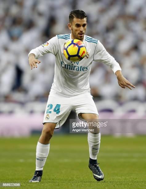 Dani Ceballos of Real Madrid controls the ball during the La Liga match between Real Madrid and Sevilla at Estadio Santiago Bernabeu on December 9...
