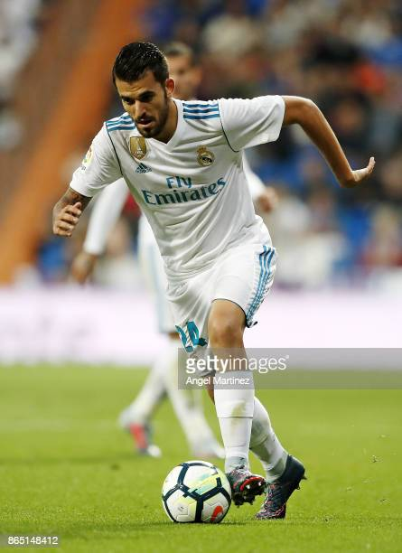 Dani Ceballos of Real Madrid in action during the La Liga match between Real Madrid and Eibar at Estadio Santiago Bernabeu on October 22 2017 in...