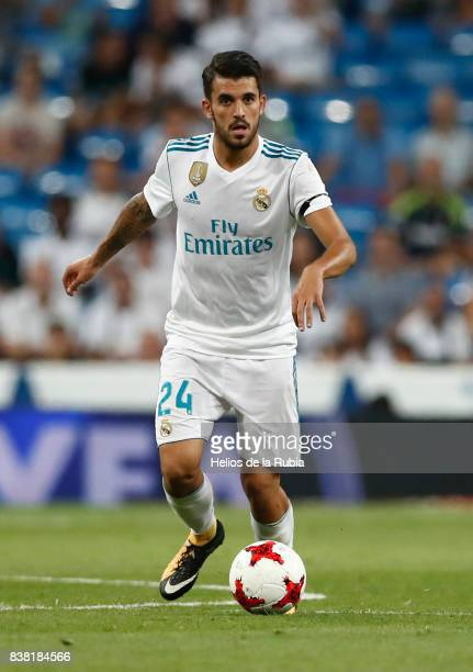 Dani Ceballos of Real Madrid in actions during the match Trofeo Santiago Bernabeu between Real Madrid CF and Fiorentina at Santiago Bernabeu Stadium...