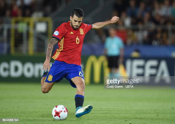 Dani Ceballos of Spain during their UEFA European Under21 Championship 2017 final match against Germany on June 30 2017 in Krakow Poland