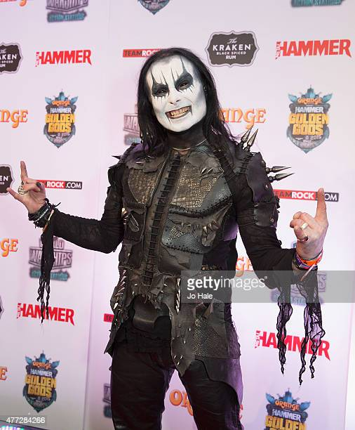 Dani Filth of Cradle of Filth attends the Metal Hammer Golden God Awards at Indigo2 at The O2 Arena on June 15 2015 in London United Kingdom
