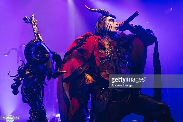 Dani Filth of Cradle Of Filth performs on stage at KOKO on October 23 2015 in London England