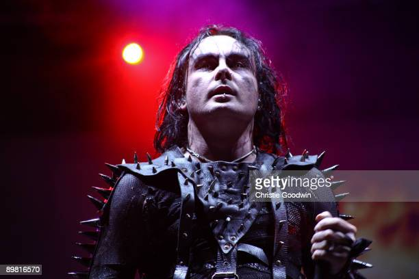 Dani Filth of Cradle Of Filth performs on stage on the second day of Bloodstock Open Air festival at Catton Hall on August 15 2009 in Derby England