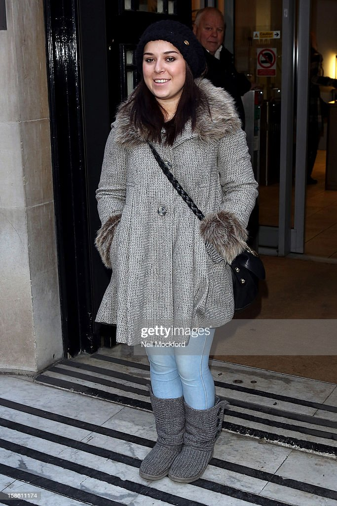 Dani Harmer seen at BBC Radio 2 ahead of the Strictly Come Dancing Final on December 21, 2012 in London, England.