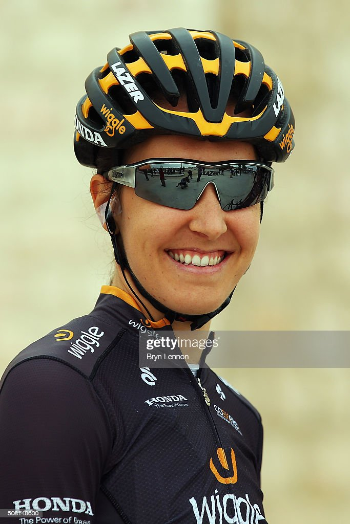 <a gi-track='captionPersonalityLinkClicked' href=/galleries/search?phrase=Dani+King+-+Cyclist&family=editorial&specificpeople=7505449 ng-click='$event.stopPropagation()'>Dani King</a> of Great Britain and Wiggle High5 looks on at the start of stage two of the 2016 Ladies Tour of Qatar from Sheikh Faisal Museum to Al Khor Corniche on February 3, 2016 in Al Khor Corniche, Qatar.