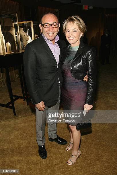 Dani Levinas and Mirella Levinas attend a private dinner in honor of Anri Sala at the Cartier Dome Miami Beach Botanical Garden on December 2 2008 in...