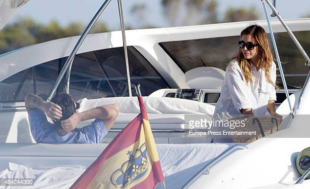 Dani Martin and Blanca Suarez are seen on August 25 2014 in Ibiza Spain