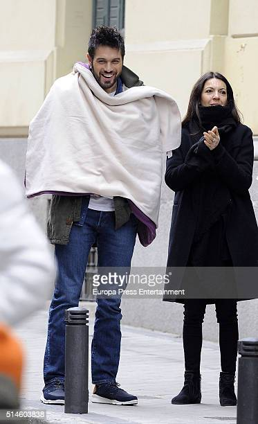 Dani Martinez is seen during the set filming of a commercial on March 9 2016 in Madrid Spain