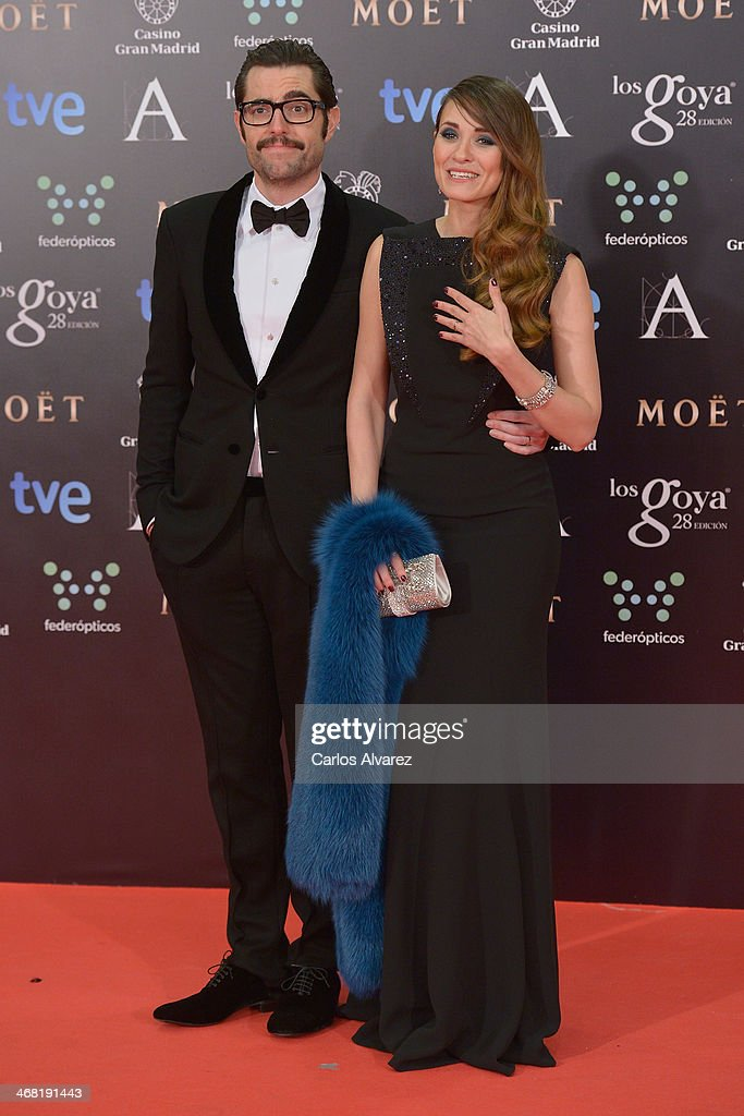Dani Mateo and Elena Ballesteros attends Goya Cinema Award 2014 at Centro de Congresos Principe Felipe on February 9, 2014 in Madrid, Spain.