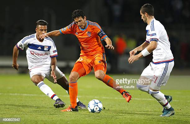 Dani Parejo of Valencia CF in action during the UEFA Champions league match between Olympic Lyonnais and Valencia CF at Stade de Gerland on September...