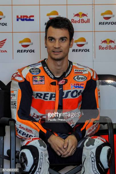 Dani Pedrosa during Motogp test day at Valencia circuit