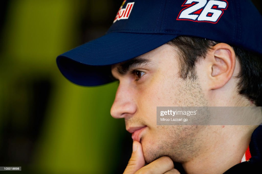 Dani Pedrosa of Spain and Repsol Honda Team looks on during the press conference pre event of Grand Prix of France in Le Mans Circuit on May 20, 2010 in Le Mans, France.