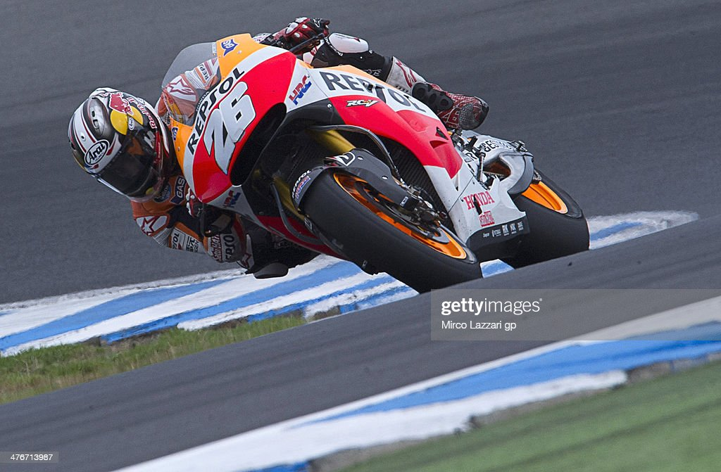 Dani Pedrosa of Spain and Repsol Honda Team rounds the bend during the MotoGP Tests in Phillip Island - Day Three at Phillip Island Grand Prix Circuit on March 5, 2014 in Phillip Island, Australia.
