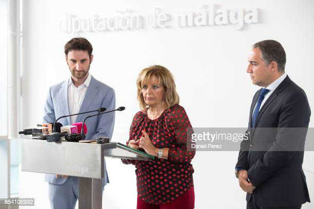 Dani Rovira and Maria Teresa Campos attend the appointment of Favorite and Adopted Sons of Malaga on September 26 2017 in Malaga Spain