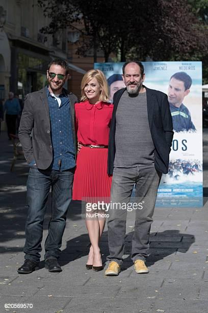 Dani Rovira Karra Elejalde and Alexandra Jimenez attend the presentation of the movie quot100 metersquot in Madrid Spain November 2 2016