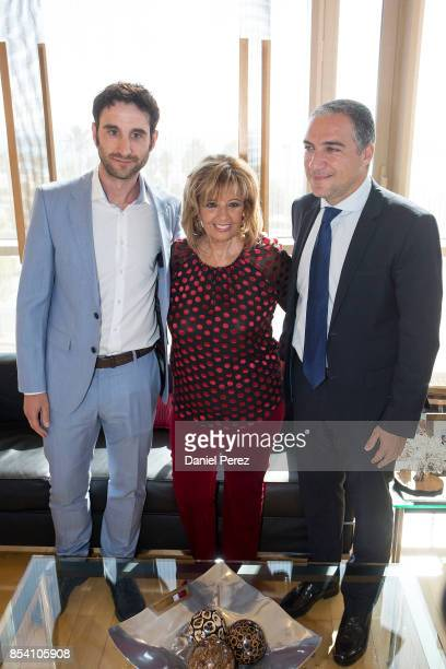 Dani Rovira Maria Teresa Campos and Elias Bendodo attend the appointment of Favorite And Adopted Sons of Malaga on September 26 2017 in Malaga Spain