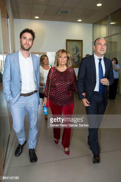 Dani Rovira Maria Teresa Campos and Elias Bendodo attend the appointment of Dani Rovira and Maria Teresa Campos as favorite and adopted sons of...