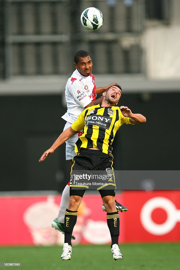 Dani Sanchez of the Wellington Phoenix looks to control the ball during the round 23 A-League match between the Wellington Phoenix and the Melbourne Heart at Forsyth Barr Stadium on March 3, 2013 in Dunedin, New Zealand.