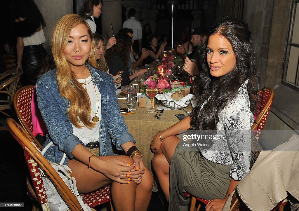 Dani Song and Rocsi Diaz attend Lucky Brand's Measure of Style Dinner at Chateau Marmont on June 13, 2013 in Los Angeles, California.