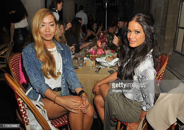 Dani Song and Rocsi Diaz attend Lucky Brand's Measure of Style Dinner at Chateau Marmont on June 13 2013 in Los Angeles California