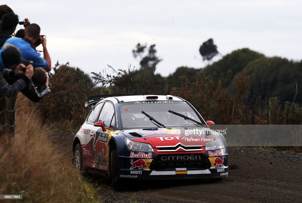 <a gi-track='captionPersonalityLinkClicked' href=/galleries/search?phrase=Dani+Sordo&family=editorial&specificpeople=666298 ng-click='$event.stopPropagation()'>Dani Sordo</a> of Spain and co-driver <a gi-track='captionPersonalityLinkClicked' href=/galleries/search?phrase=Marc+Marti&family=editorial&specificpeople=226797 ng-click='$event.stopPropagation()'>Marc Marti</a> drive their Citroen C4 WRC during stage 18 of the WRC Rally of New Zealand at Te Hutewai on May 9, 2010 in Raglan, New Zealand.