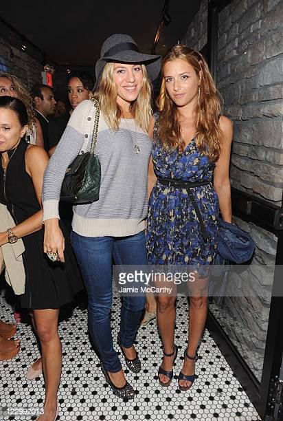Dani Stahl and designer Charlotte Ronson attend the Charlotte Ronson Beauty and Sephora Dinner at Hotel Chantelle on August 29 2011 in New York City