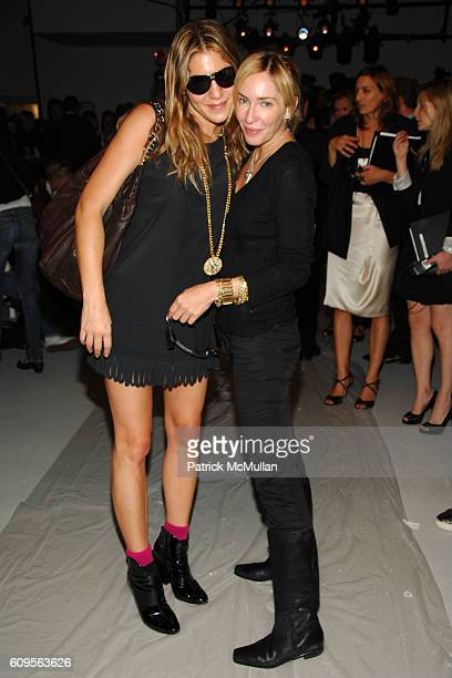 Dani Stahl and Lauryn Flynn attend CALVIN KLEIN COLLECTION Spring 2008 Fashion Show at Calvin Klein Inc on September 11 2007 in New York City
