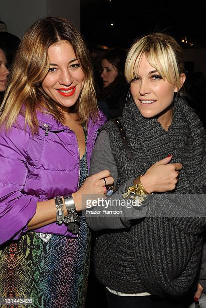 Dani Stahl and Tinsley Mortimer flashing their new lia sophia bling at the Samsung Galaxy Tab Lift on January 22 2011 in Park City Utah