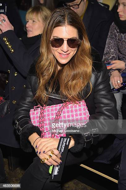 Dani Stahl attends the DKNY fashion show during MercedesBenz Fashion Week Fall 2015 on February 15 2015 in New York City