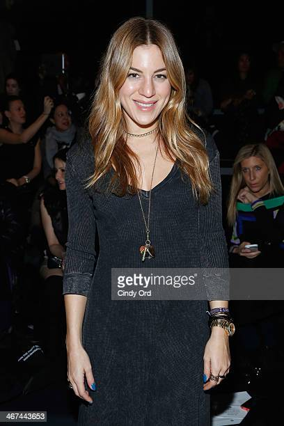 Dani Stahl attends the Mark And Estel fashion show during MercedesBenz Fashion Week Fall 2014 at The Salon at Lincoln Center on February 6 2014 in...