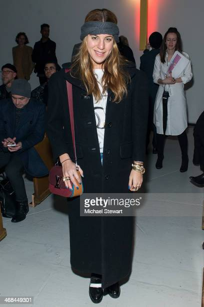 Dani Stahl attends the Thom Browne Women's show during MercedesBenz Fashion Week Fall 2014 at Center 548 on February 10 2014 in New York City