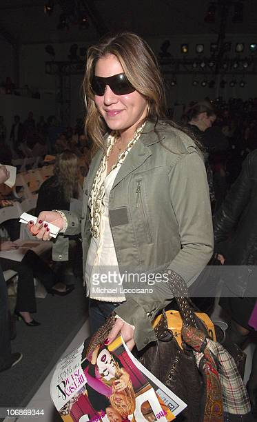 Dani Stahl during Olympus Fashion Week Fall 2006 Alice Roi Front Row and Backstage at Bryant Park in New York City New York United States
