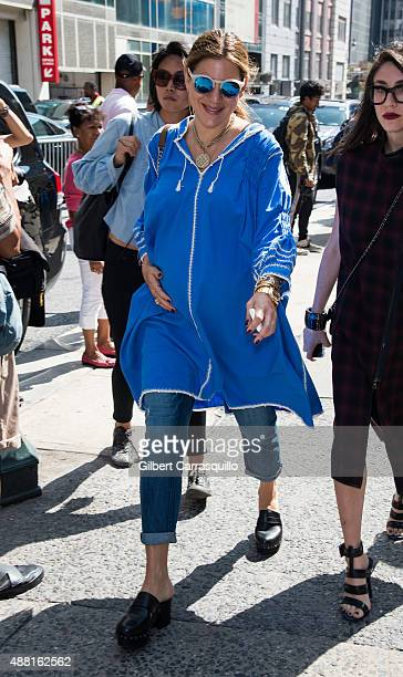 Dani Stahl is seen arriving at Public School fashion show during Spring 2016 New York Fashion Week on September 13 2015 in New York City