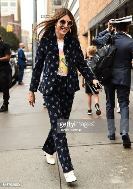 Dani Stahl is seen outside the Marchesa show during New York Fashion Week Women's S/S 2018 on September 13 2017 in New York City